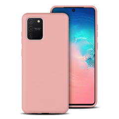 Custom moulded for the Samsung Galaxy S10 Lite, this pastel pink soft silicone case from Olixar provides excellent protection against damage as well as a slimline fit for added convenience.