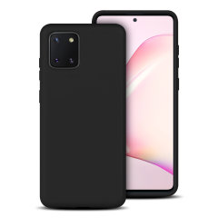 Custom moulded for the Samsung Galaxy Note 10 Lite, this black soft silicone case from Olixar provides excellent protection against damage as well as a slimline fit for added convenience.