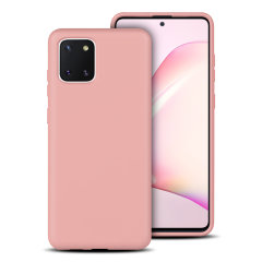 Custom moulded for the Samsung Galaxy Note 10 Lite, this pastel pink soft silicone case from Olixar provides excellent protection against damage as well as a slimline fit for added convenience.
