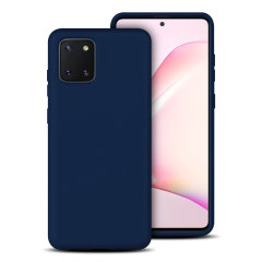 Custom moulded for the Samsung Galaxy Note 10 Lite, this midnight blue soft silicone case from Olixar provides excellent protection against damage as well as a slimline fit for added convenience.