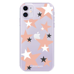 Give your iPhone 11 a cute new look with this pink star design phone case from LoveCases. Cute but protective, the ultra-thin case provides slim fitting and durable protection against life's little accidents.