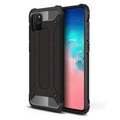 Protect your Samsung Galaxy S10 Lite from bumps and scrapes with this black Delta Armour case from Olixar. Comprised of an inner TPU section and an outer impact-resistant exoskeleton.