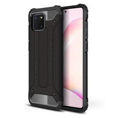 Protect your Samsung Galaxy Note 10 Lite from bumps and scrapes with this black Delta Armour case from Olixar. Comprised of an inner TPU section and an outer impact-resistant exoskeleton.