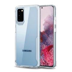 Perfekt für Samsung Galaxy S20 Besitzer suchen exquisiten Schutz zu bieten, dass Samsungs schlankes Design keine Kompromisse, die von Novashield Olixar kombiniert das perfekte Schutzniveau in einem schlanken klaren Stoßstange Paket.