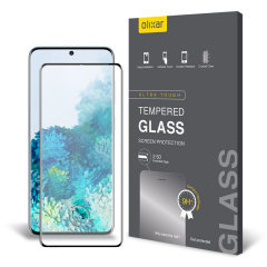 Keep your Samsung Galaxy S20 screen in pristine condition with this Olixar Tempered Glass curved screen protector, designed for full coverage of your phone's screen. This design leaves enough space for a case too.