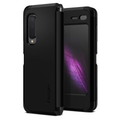 The Spigen Tough Armor in Black is the new leader in protective cases. The new Air Cushion Technology corners reduce the thickness of the case while providing optimal protection for your Samasung Galaxy Fold.