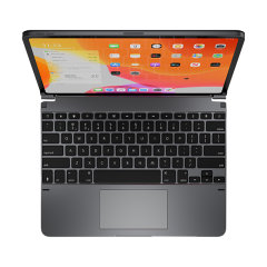 This durable highly stylish Brydge TrackPad Bluetooth keyboard case in space grey lets you type faster, while at the same time protecting your iPad Pro 12.9-inch and also features back-lit keys & a built-in trackpad!