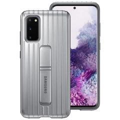 Diese offizielle Samsung Schutzabdeckung in Silber ist das perfekte Zubehör für Ihr Samsung Galaxy S20 Smartphone.