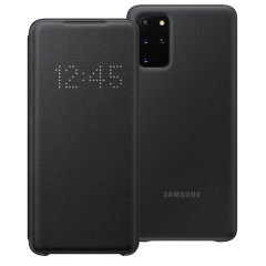 Protect your New Samsung Galaxy S20 Plus screen from harm and keep up to date with your notifications through the intuitive LED display with the official black LED cover from Samsung.