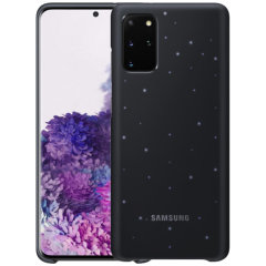 Protect your New Samsung Galaxy S20 Plus from harm with the intuitive LED offical case from Samsung in black. This LED smart case allows you to receive notifications, set mood lights, have icon features & connect with friends all through the LED lights.