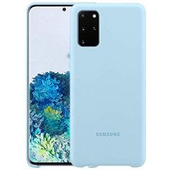 Bescherm uw Samsung Galaxy S20 Plus met deze officiële siliconen case in hemelsblauw. Eenvoudige maar stijlvolle, deze zaak is de perfecte accessoire voor uw Samsung Galaxy S20 Plus.