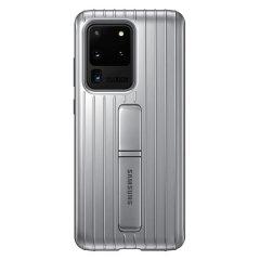 Diese offizielle Samsung Schutzabdeckung in Silber ist das perfekte Zubehör für Ihr Galaxy S20 Ultra-Smartphone.