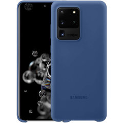 Offisielle Silicone Cover Samsung Galaxy S20 Ultra Deksel - marineblå