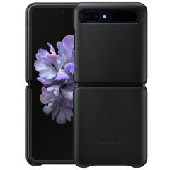 This Official Samsung Genuine Leather Cover Case in Black is the perfect way to keep your Galaxy Z Flip smartphone protected. The Leather Cover wraps your Galaxy Z Flip in luxury premium calfskin leather ensure supreme style with ultra protection.