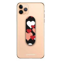 The Lovecases phone grip loop attaches to the back of your phone case and keeps hold of your device or can be used as a stand to prop your phone up with ease.