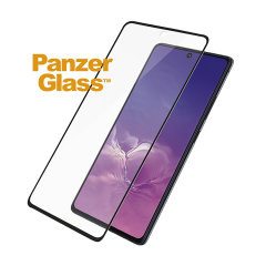 Introducing the premium range PanzerGlass case friendly screen protector. Designed to be shock and scratch resistant, PanzerGlass offers the ultimate protection for your stunning Samsung Galaxy S10 Lite. The full fit frame ensures advanced protection.