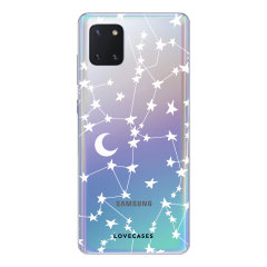 LoveCases Samsung Galaxy Note 10 Lite Gel Case - White Stars And Moons