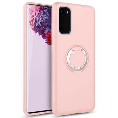 The Zizo revolve case in Rose Quartz brings style and function together into a slim design whilst full protecting your Samsung Galaxy S20 from accidental drops. The ring at the back doubles as a kickstand to watch your favourite series conveniently.