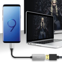 Connect your Samsung Galaxy S9 to your TV or monitor with this HDMI adapter from Olixar. Quick and easy to connect, enjoy ultra smooth 4K video at 60Hz, display photos and play games on a larger screen. Dex Compatible