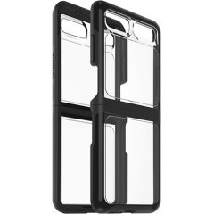The dual-material construction makes the Symmetry black/clear case for the Samsung Galaxy Z Flip is one of the slimmest yet most protective case in its class. The Symmetry series Flex Case has the style you want with the protection your Z Flip needs.