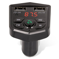Maxlife Dual Port Wireless FM Transmitter & Handsfree Car Kit - Black