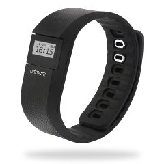 Bitmore Fitness Kalori Step & Avstånd Tracker Watch - Black