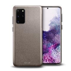 Coque Samsung Galaxy S20 Plus Olixar en cuir véritable – Gris