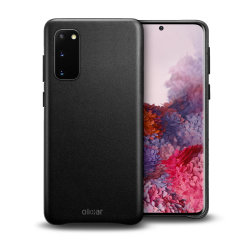 Crafted from premium genuine leather, this exquisite black case from Olixar for the Samsung Galaxy S20 provides stunning style and prestigious protection for your phone in a slim and sleek package.