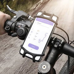 Designed to attach your smartphone securely to both small and large bike handlebars, the Universal Silicone Bike Mount from Olixar is ideal for use with GPS apps or listening to music. Compatible with devices up to 7 inches.