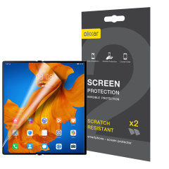 Keep your Huawei Mate XS screen in pristine condition with this Olixar scratch-resistant screen protector 2-in-1 pack.