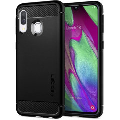 The Rugged Armor comes with a stylish look, characteristic black matte finish & a carbon fibre style accessories. The air-cushion technology in every corner provides greater impact resistance & slightly raised bezels to provide better screen protection.