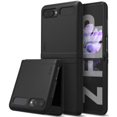 The slim, hardened construction makes the Slim case in black from Ringke for the Samsung Galaxy Z Flip one of the slimmest yet most protective case in its class. The Slim series Case has the style you want with the protection your Z Flip needs.