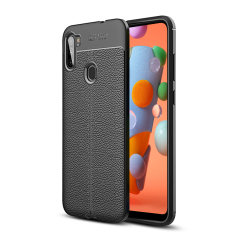 Olixar Attache Samsung Galaxy A11 Leather-Style Protective Case -Black
