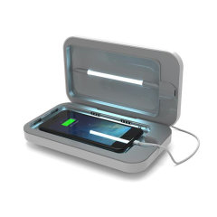 Introducing the PhoneSoap 3.0 phone sanitiser and phone charger. Featuring UV lights, PhoneSoap 3.0 cleanses your phone from bacteria and viruses, while also having the capability of charging your phone at the same time.
