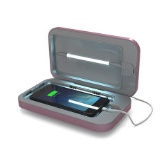 Introducing the PhoneSoap 3.0 phone sanitiser and phone charger in Orchid. Featuring UV lights, PhoneSoap 3.0 cleanses your phone from bacteria and viruses, while also having the capability of charging your phone at the same time.