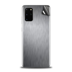Protect your Samsung S20 Plus in sleek style with the Olixar Brushed Metal Silver Skin. This Skin is completely scratch resistant & ultra-thin finished a premium metal finish leaving behind no residue. This skin will make you stand out from the crowd!