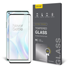 Olixar OnePlus 8 Tempered Glass Screen Protector - Black