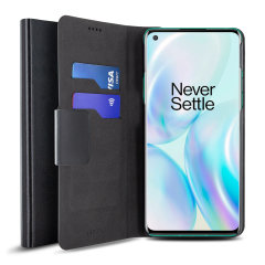 The Olixar leather-style OnePlus 8 Wallet Case in black attaches to the back of your phone to provide superb enclosed protection and can also be used to hold your credit cards. So you can leave your other wallet home as this case has it all covered.