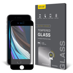 This ultra-thin full cover curved tempered glass screen protector for the iPhone SE 2020 from Olixar offers toughness, high visibility and sensitivity all in one package. Features complete edge to edge screen protection.