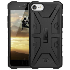 The UAG Pathfinder Case in Black for the iPhone SE 2020 features a classic tough-looking, composite design with a soft impact-absorbing core and hard exterior that provides superb protection in all situations.