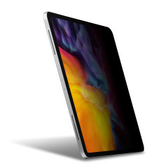 "Keep your iPad Pro 11"" 2020 screen in pristine condition and protect your personal data on the go with this Olixar scratch-resistant film privacy screen protector 2-in-1 pack."