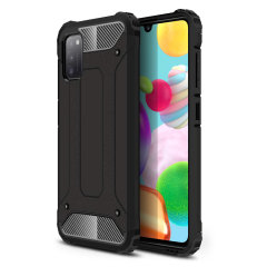 Protect your Samsung Galaxy A41 from bumps and scrapes with this black Delta Armour case from Olixar. Comprised of an inner TPU section and an outer impact-resistant exoskeleton.