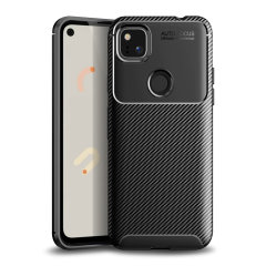 Flexible rugged casing with a premium matte finish non-slip carbon fibre and brushed metal design, the Olixar carbon case in black keeps your Google Pixel 4a protected.