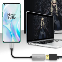 Connect your OnePlus 8 to your TV or monitor with this HDMI adapter from Olixar. Quick and easy to connect, enjoy ultra smooth 4K video at 60Hz, display photos and play games on a larger screen.