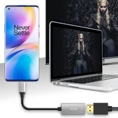 Connect your OnePlus 8 Pro to your TV or monitor with this HDMI adapter from Olixar. Quick and easy to connect, enjoy ultra smooth 4K video at 60Hz, display photos and play games on a larger screen. Dex Compatible