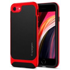 The Spigen Neo Hybrid in Dante Red colour is the new leader in lightweight protective cases. Spigen's new Air Cushion Technology reduces the thickness of the case while providing optimal corner protection for your iPhone SE 2020.