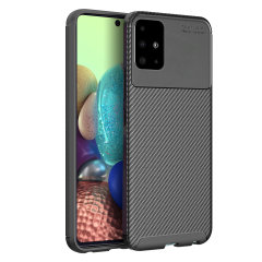 Olixar Carbon Fibre Samsung Galaxy A71 5G Case - Black