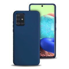 Custom moulded for the Samsung Galaxy A71 5G, this midnight blue soft silicone case from Olixar provides excellent protection against damage as well as a slimline fit for added convenience.