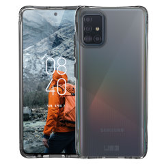 The Urban Armour Gear Plyo semi-transparent tough case in Ice for the Samsung Galaxy A51 features reinforced Air-Soft corners and an optimised honeycomb structure for superior drop and shock protection.