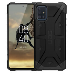 The Urban Armour Gear Pathfinder black rugged case for the Samsung Galaxy A51 features a classic tough-looking, composite design with a soft impact-absorbing core and hard exterior that provides superb protection in all situations.